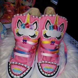 Other - Unicorn high top shoes-customized